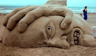 oppression sand sculpture 2