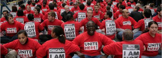 unite here sit down demo